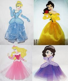 Machine Embroidery - Tulle Princesses.. Bought some of theses. Can't wait to stitch them up