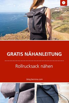 Sewing instructions for a rolling backpack- Nähanleitung für einen Rollrucksack Free sewing instructions for a Rollrucksack with … - Diy Sewing Projects, Sewing Projects For Beginners, Sewing Hacks, Sewing Tutorials, Sewing Tips, Sewing Patterns Free, Free Sewing, Diy Rucksack, Bunny Bags