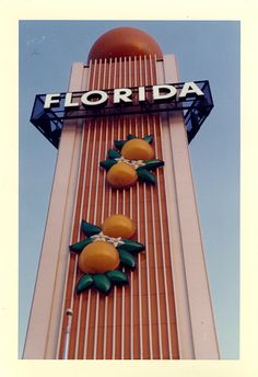 vintage photography of the Florida exhibit at The Worlds Fair 1964