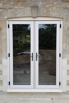 We designed the Flush Sash French door to perfectly complement our heritage casement window. Period looking doors, made with modern materials & technology. Door Design, French Doors, Windows And Doors, Affordable Windows, Casement Windows, New Homes, Timber Windows, Living Room Dining Room Combo, Modern Properties