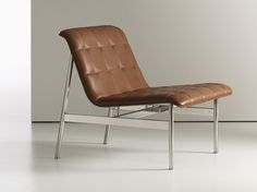 CP1 Leather easy chair by NURUS design Charles Pollock