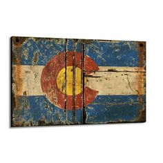 """Colorado Flag"""" by Red Horse Signs. Original hand painted vintage looking designs."""