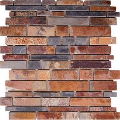 AKDO Slate Stripe Mosaics available at Fiorano Tile Showrooms & Country Tile by Fiorano. Tile Showroom, Long Island Ny, Mosaics, Slate, Lisa, Room Ideas, Country, Wood, Kitchen