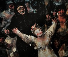 Francisco de Goya y Lucientes El entierro de la sardina (detail) 1812-1819