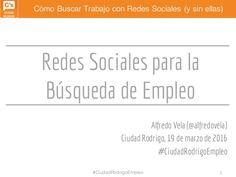 Una presentación sobre Redes Sociales para la Búsqueda de Empleo.