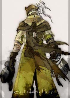Old Hunter Henryk Bloodborne Characters, Bloodborne Art, Anime Meme, Assassins Creed Funny, Character Art, Character Design, Soul Game, Old Blood, Memes