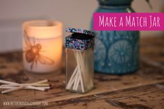 Make a Match jar from an empty spice jar and some washi tape — Hester's Handmade Home