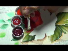 Marcos Rodrigues - Pintura de rosa em tecido (Parte 1) - YouTube