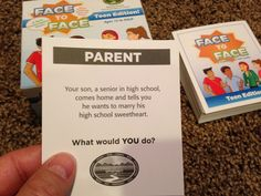 You son wants to marry his high school sweetheart, right after high school graduation...What would YOU do? FACE to FACE Teen Edition. Scenario of the Day 11-14-14