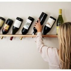 Diy wood projects for beginners easy wood projects easy wood pallet projects diy wood projects plans Wood Projects For Beginners, Easy Wood Projects, Diy Pallet Projects, Wine Bottle Storage, Wine Bottle Holders, Wine Bottles, Wine Decanter, Diy Storage Rack, Storage Ideas