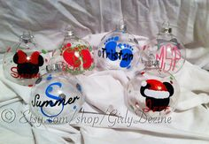 Christmas Ball Ornaments Personalized
