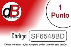Estos codigos los podrás conseguir en los comercios asociados. Mas info : www.dBaes.es