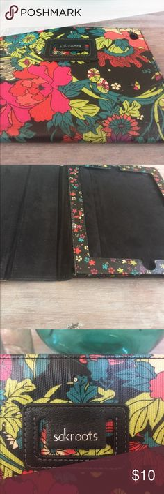 Sakroots I pad cover Reposhed. Cover is missing snap closure. in gently used condition. Pretty floral with black background. Sakroots Accessories Tablet Cases