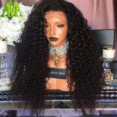 Best Kinky Curly Wigs 150 density Glueless Full Lace Human Hair Wigs Kinky Curly With Baby Hair Indian Remy Lace Front Wig Curly Curly Lace Front Wigs, Human Hair Lace Wigs, Remy Human Hair, Human Hair Extensions, Front Lace, Hair Front, Kinky Curly Wigs, Kinky Hair, Curly Hair Styles
