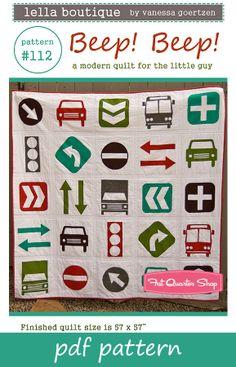 Beep Beep Quilt Pattern $