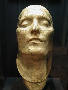 "Napoleon's Death Mask. ""His steely determination and spark of dynamism have dissolved. His eyes are sunken, his cheek hallow, his lips hang slightly ajar. It's a fallen face, and the story it tells is of defeat and exile."""