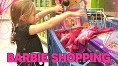 Barbie Shopping for Surprise Eggs - Kids Shopping for Barbie's Video