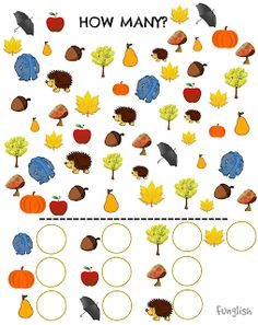 Funglish: Autumn - part 2 Fall Preschool, Preschool Education, Quiet Time Activities, Craft Activities For Kids, Montessori Toddler, Montessori Activities, Preschool Printables, Preschool Worksheets, Beginning Of School
