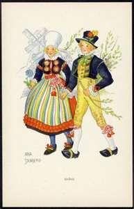 FOLK DANCERS by AINA STENBERG - SKANE SWEDEN 1930
