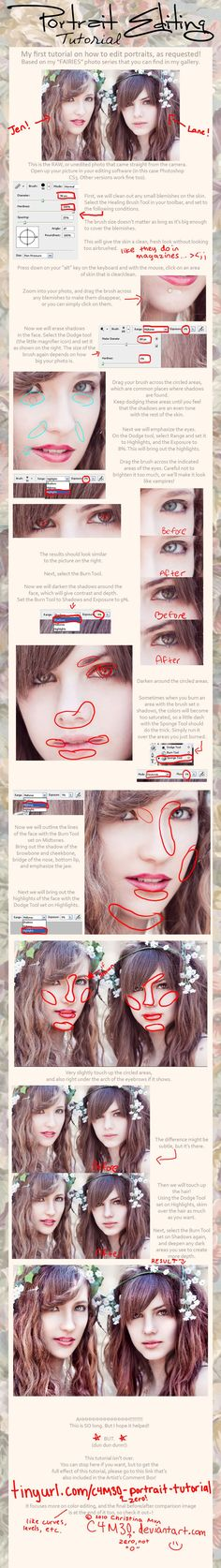 cute blemish / dodge / burn photoshop Tutorial