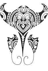 polynesian tattoo drawings | stingray-polynesian-tattoo-design