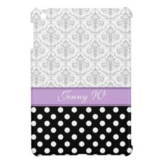 Gray Damask Black Polka Dot Purple iPad Mini Case Yes I can say you are on right site we just collected best shopping store that haveShopping          	Gray Damask Black Polka Dot Purple iPad Mini Case Here a great deal...