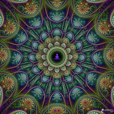 The Spirit of Peace Meditation Mandala by James Alan Smith