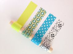 Neon Trip Washi Tape Sampler Set - Bright neon and black printed pattern with coordinating colored tapes.
