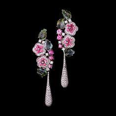 Ruth Grieco. Primavera.  #diamonds #pinktourmaline #flowers