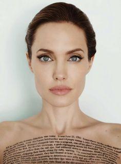 Angelina Jolie by Mario Testino, Vanity Fair US, December 2014.