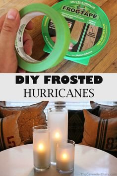 DIY Frosted Hurricanes ~ these are perfect for entertaining year round and can be made for a fraction of the cost of purchasing new ones.