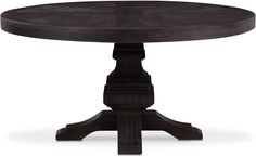 Lancaster Round Wood Top Table - Water White With Parchment Base White Dining Table, Dining Room Bench, Round Dining Table, Dining Room Furniture, Dining Rooms, Furniture Ideas, Value City Furniture, Home Room Design, Rustic Design