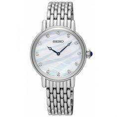 Lepage, Revendeur Seiko, propose à l'achat la montre Seiko Classique quartz acier cadran nacre 29.4 mm, montre Seiko femme, montre femme quartz, Seiko femme