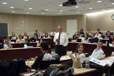 Professor Bill Kehoe in class.
