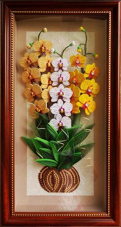Quilled orchids