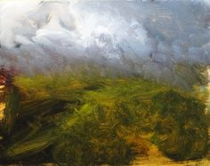 work in progress, moorland oil painting by David Ladmore  see finished paintings at www.davidladmore.com art, artist, illustration, landscape