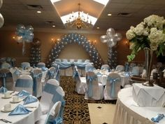 Baby Blue White Wedding Table Ideas From Gazebo Banquet Center Event And Venues