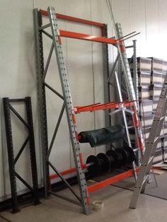 Half A frame for cable reels or long item vertical storage complete with dividers from Ian Hewett Warehouse Racking