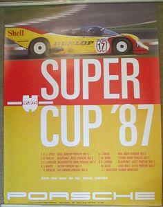 1987 Porsche Poster  1987 Porsche Super Cup by SecondChance303, $45.00