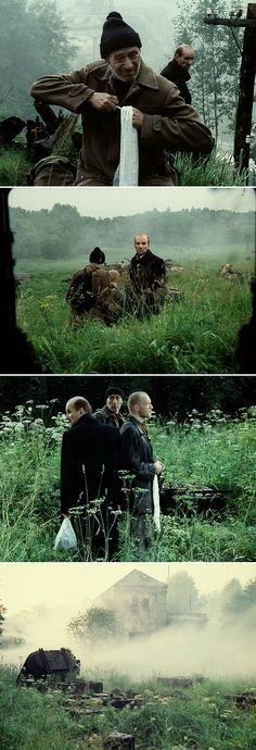 Stalker (1979) Directed by Andrei Tarkovsky Cinematography by Aleksandr Knyazhinsky, Georgi Rerberg, Leonid Kalashnikov.