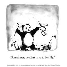 Big Panda, Little Panda, Panda Love, Introvert Vs Extrovert, Dragon Quotes, Tiny Dragon, Dragon Comic, Wise Quotes, Qoutes