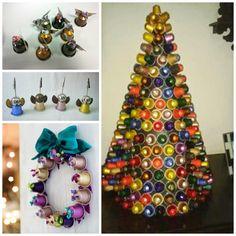Artesanato com Cápsulas de café | Dá pra fazer decoração de natal
