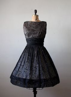 1950's party dress  50s ballerina dress by Thrush on Etsy, $265.00