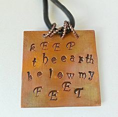 Mumford and Sons Necklace Keep the earth below by heavyistheheart