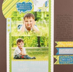 Dream On Be Young #Scrapbook Layout Project Idea from Creative Memories  http://www.creativememories.com