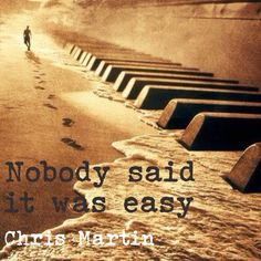 Nobody said it was easy - Chris Martin