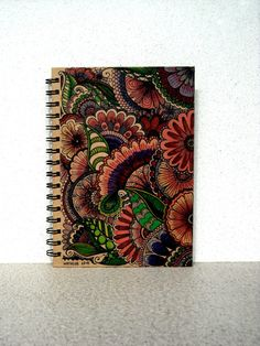 Jungle Design Doodle Spiral Bound Journal by BeautifulWishes Academic Planner, A5 Notebook, Hand Designs, Beautiful Hands, Zentangle, Spiral, How To Draw Hands, Projects To Try, Doodles