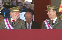 King Juan Carlos and his son Prince Felipe attend the Celebration of the Royal and Military Order of San Hermenegildo, to mark the bicentenary of the establishment of the Order at Real Monasterio de San Lorenzo de El Escorial on 03.06.2014 in El Escorial, Madrid