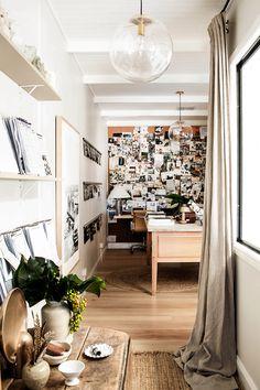 Linen curtains - The Calico House via Kara Rosenlund