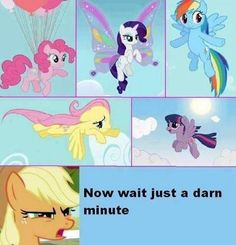 Apple Jack's a strong mare of her own who don't need to fly.